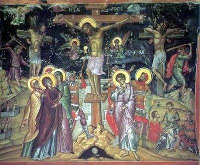 Σταυρός, Σταύρωσις του Κυρίου ημών Ιησού Χριστού, Θεοφάνης ο Κρης ΙΜ Σταυρονικήτα
